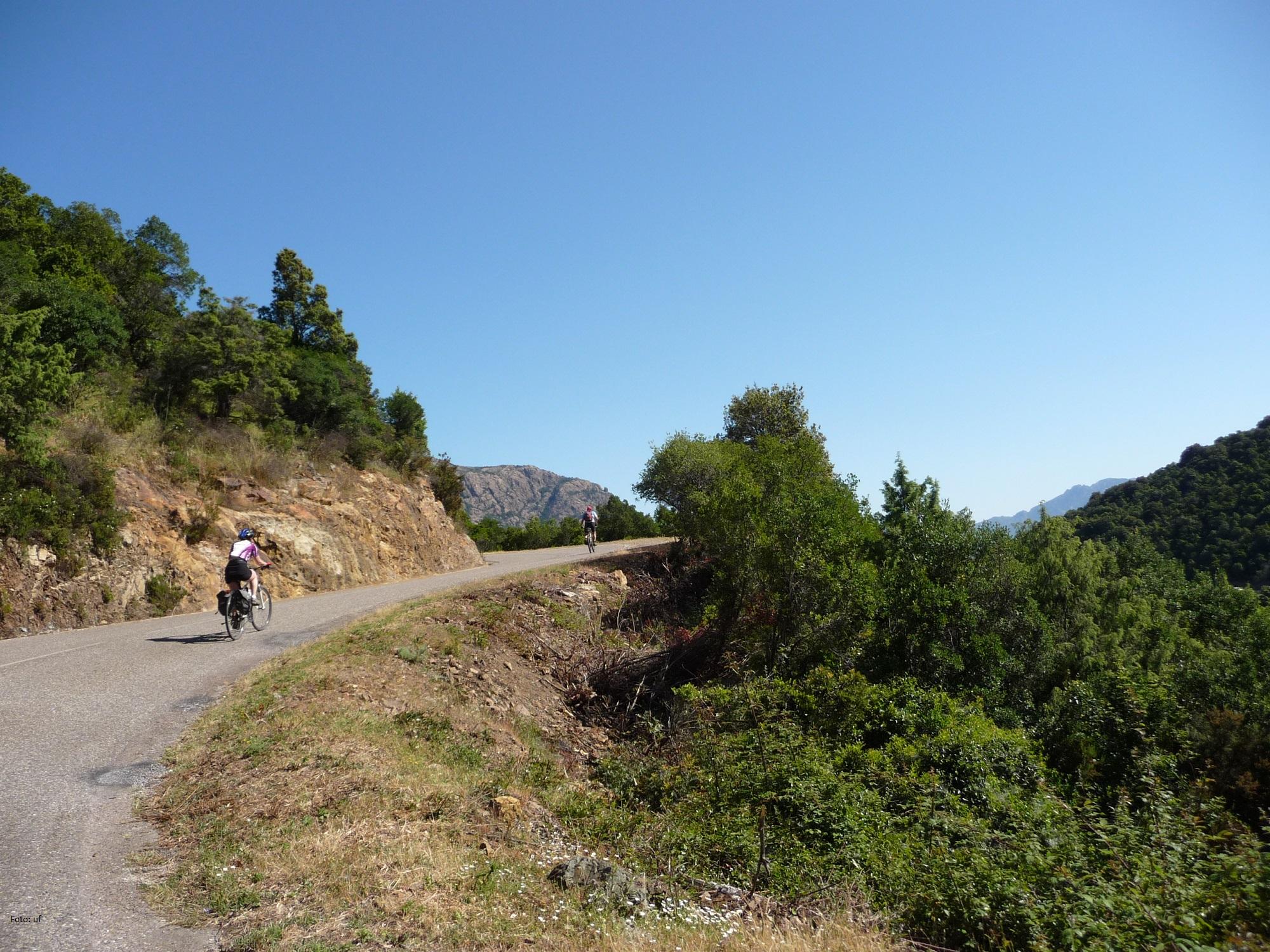 Wen der Ehrgeiz packt - per Fahrrad über Korsika geht auch