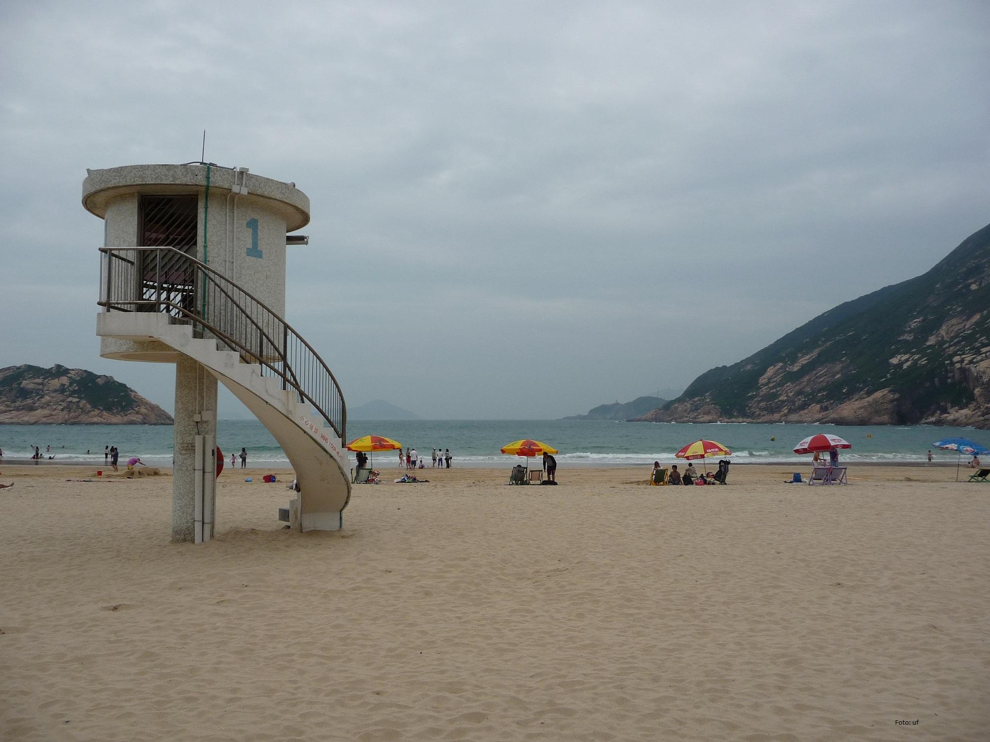 für einen Badetag in Hongkong wunderbar - Strand bei Shek O