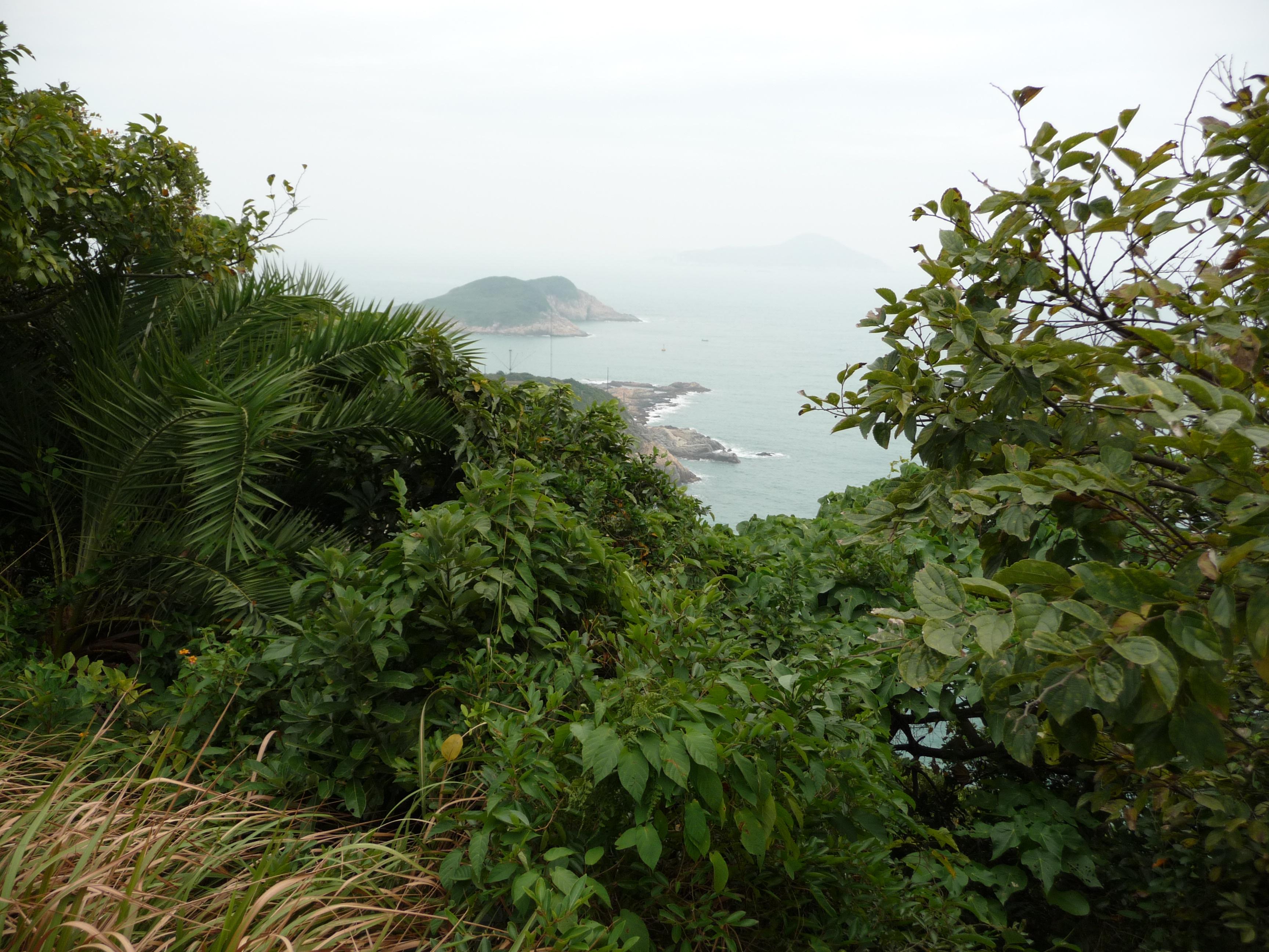Schöne Panoramen Richtung Cape D'Aguilar