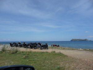 Keine Seltenheit auf Korsika - Motorradfahrer