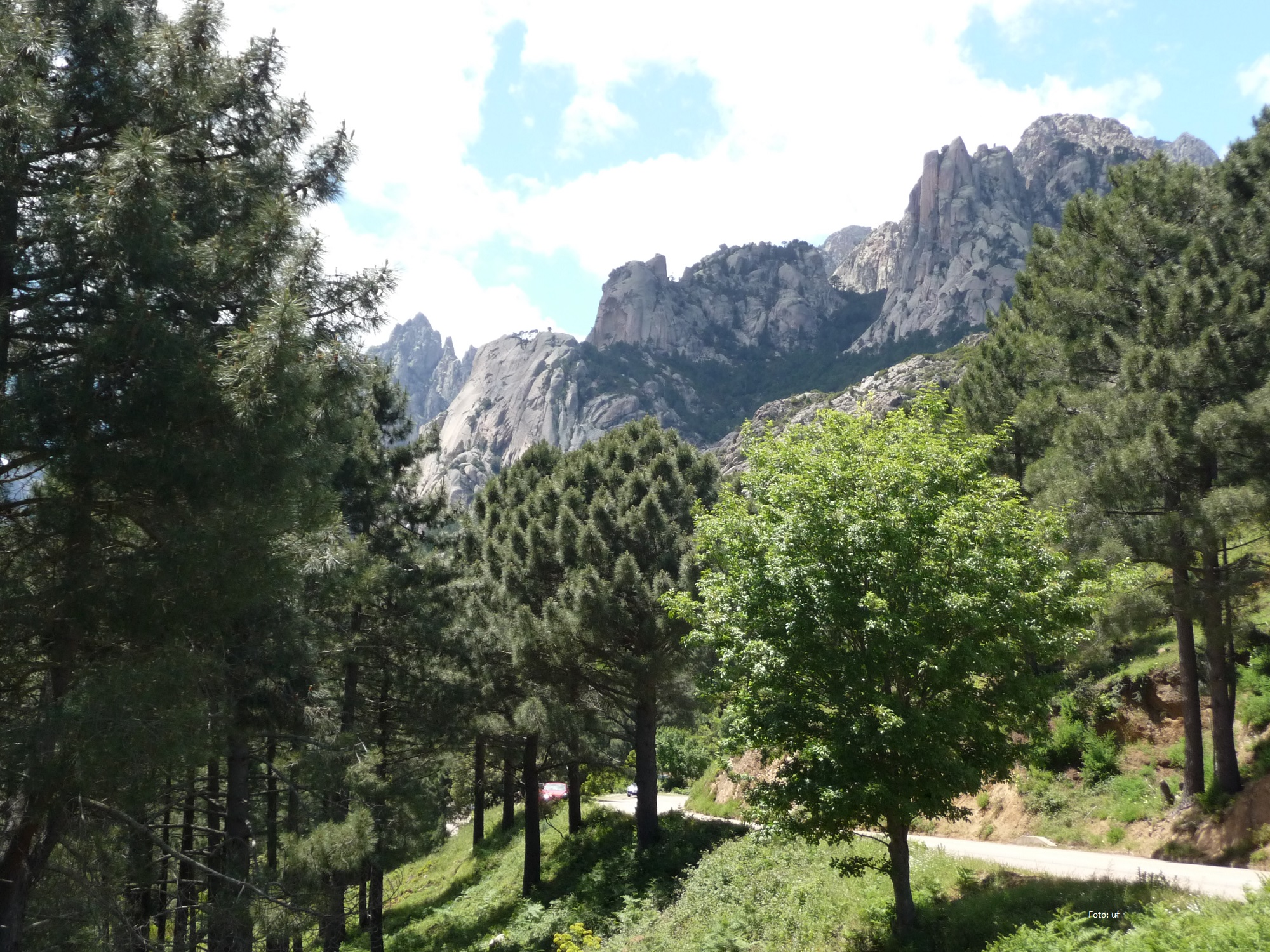 in den Bergen unterwegs