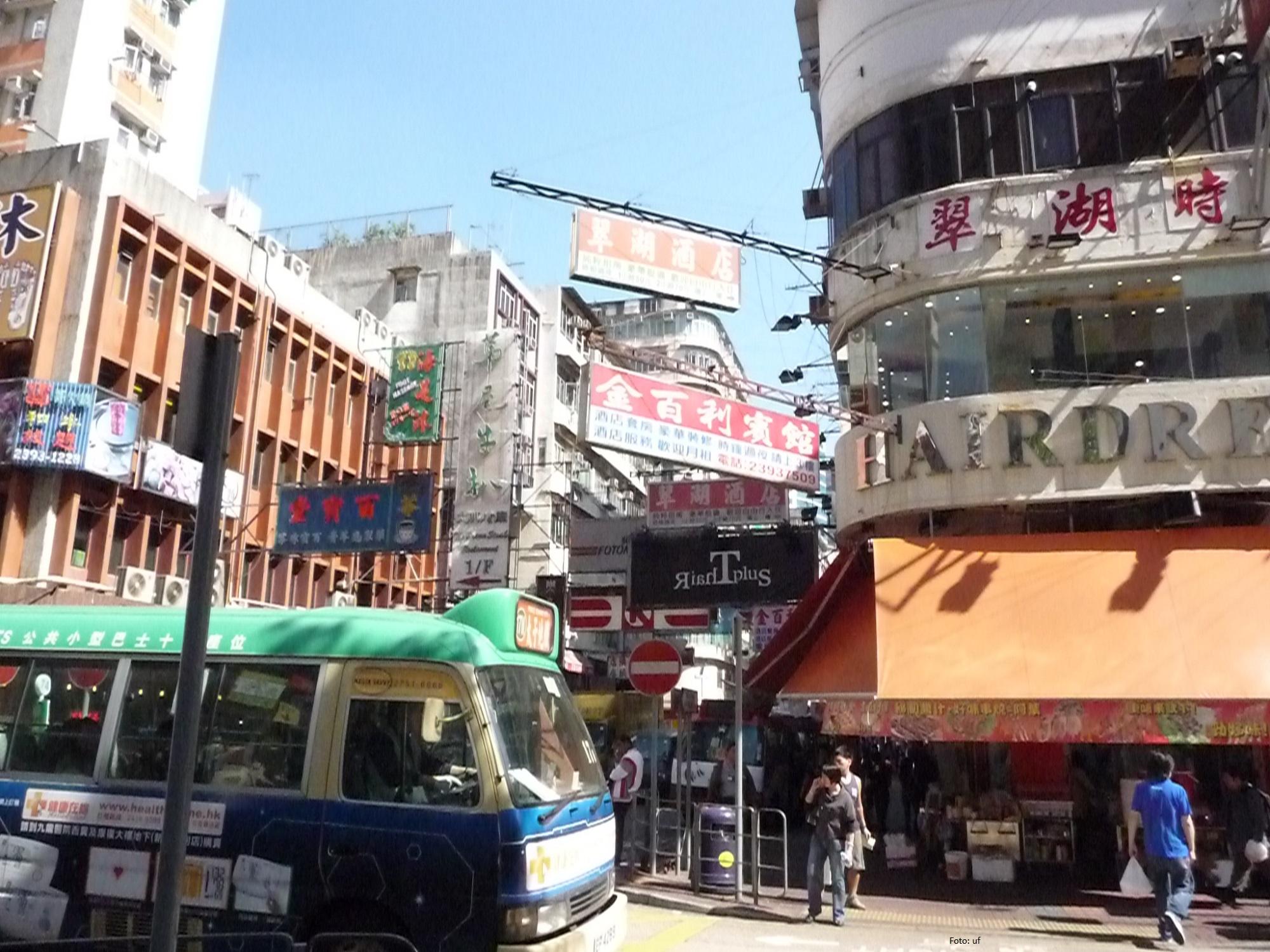 Auf den Straßen von Hongkong