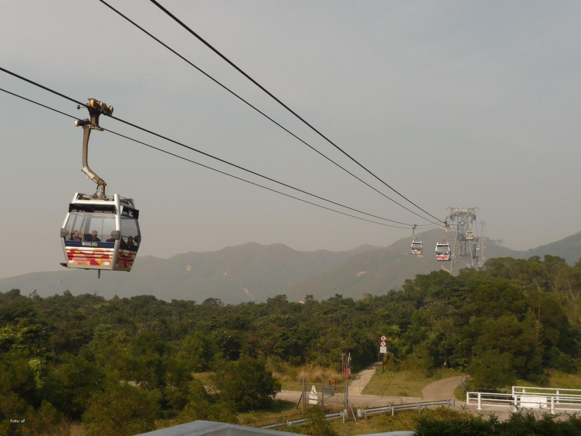 Mit der Cable Car wieder Richtung Hotel: von Po Lin nach Tung Chung und weiter mit der Metro - ein tolles Erlebnis