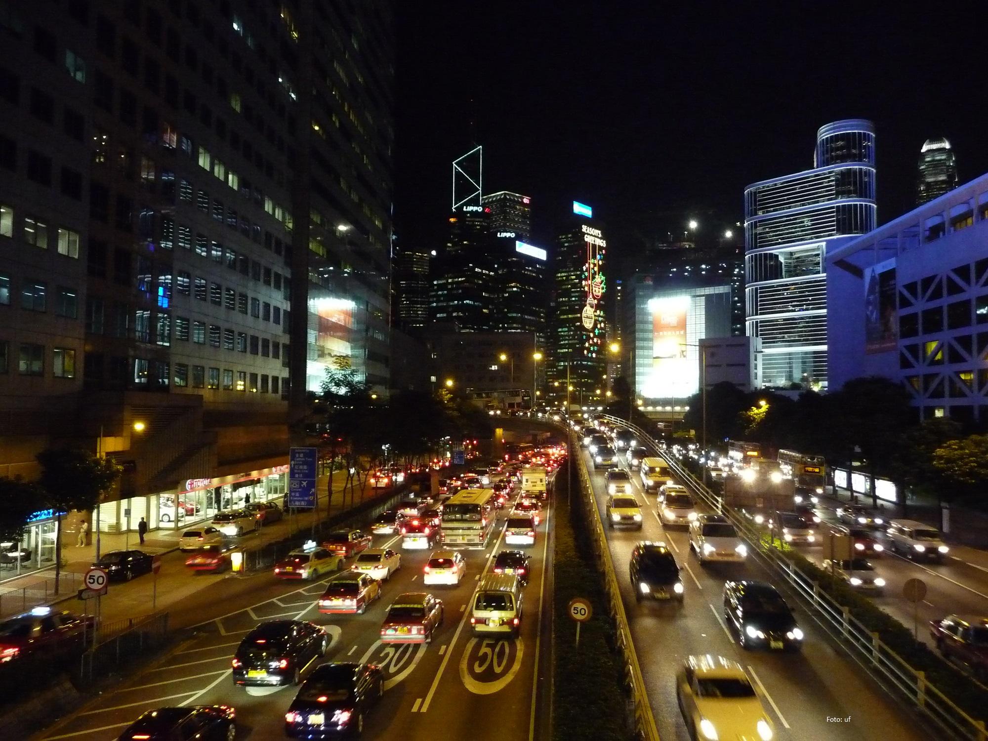 Nachts in den Hauptstraßen