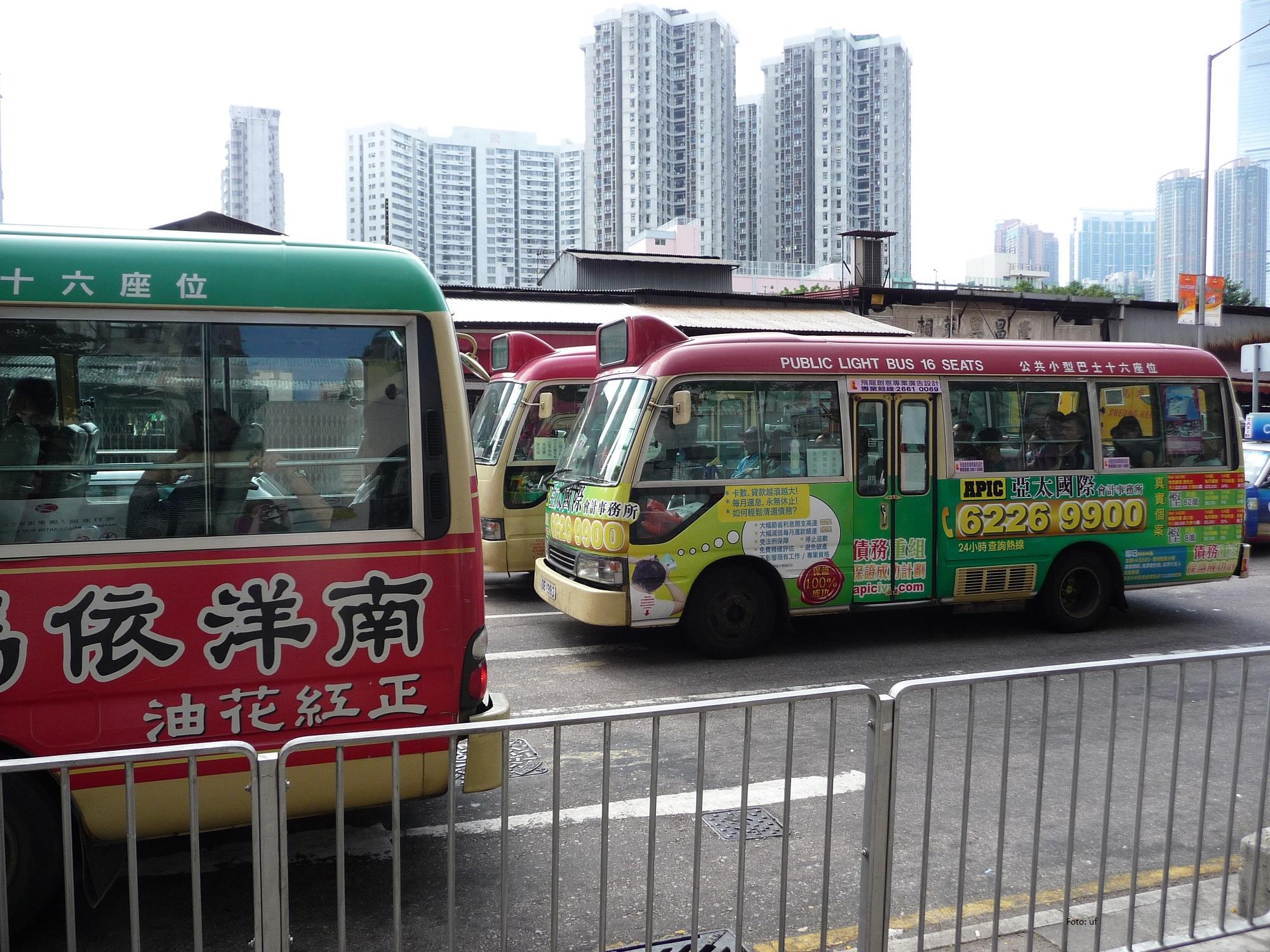 Normaler Verkehr auf Kowloon