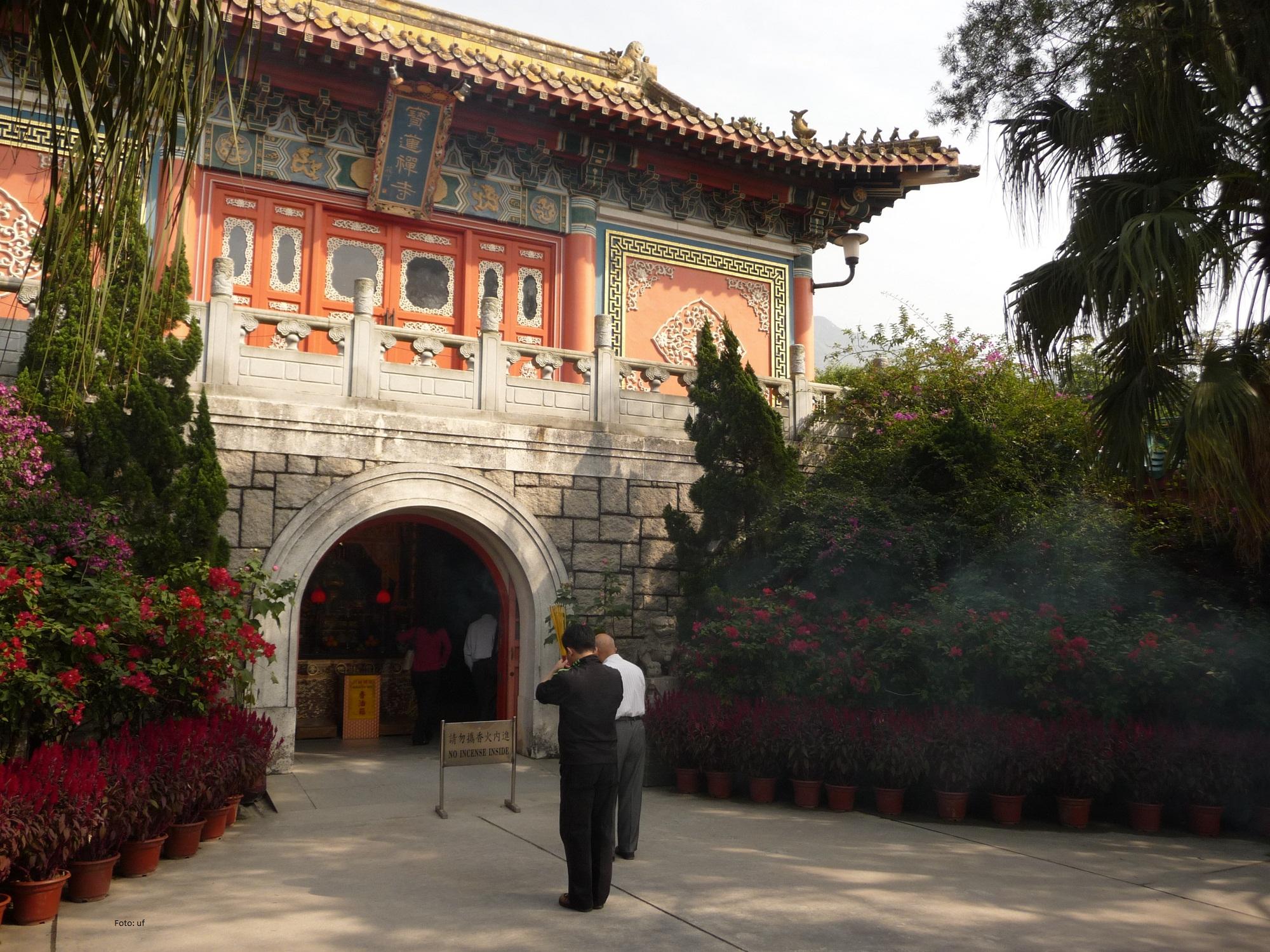 """Po Lin Kloster (""""Schöner Lotos"""") auf Lantau"""