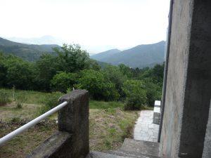 Schöner Blick in die Berge von unserer Unterkunft in Venaco
