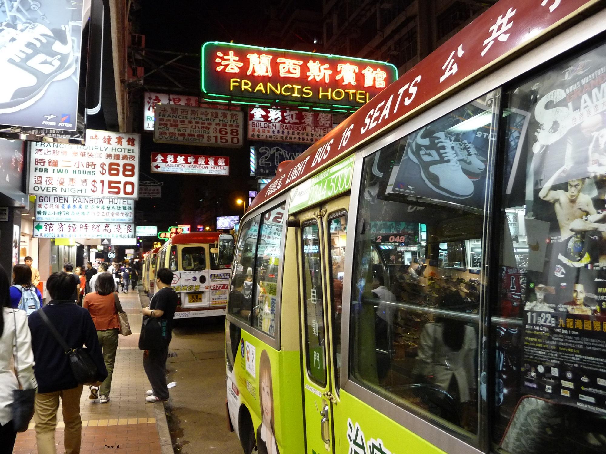 beliebte Kleinbusse in Hongkong