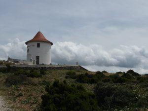 Restaurierte Mühle durch die Firma Mattei und Nutzung als Werbefläche für den Aperitif