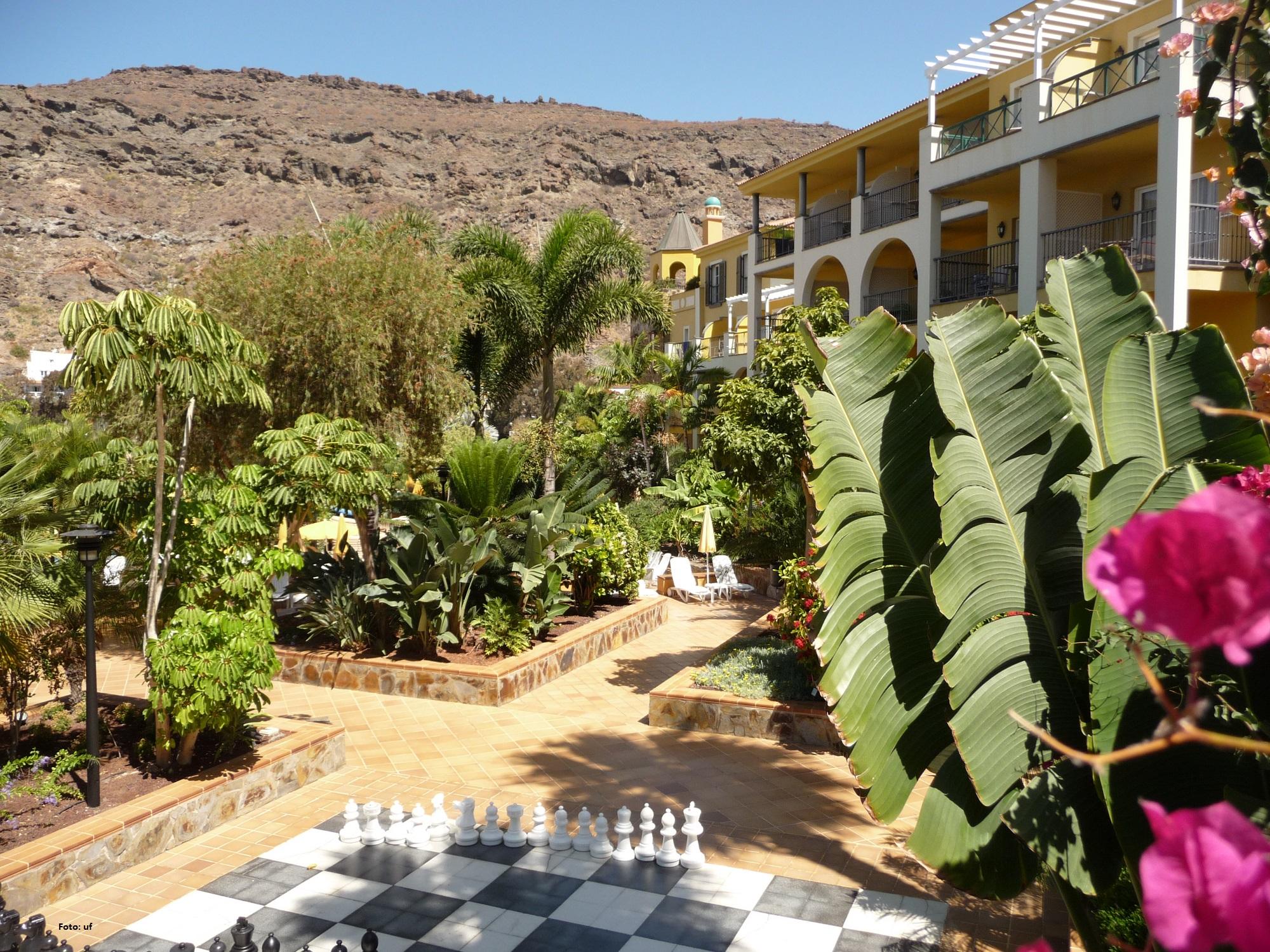 Blick in die Hotelanlage Cordial Mogan Playa