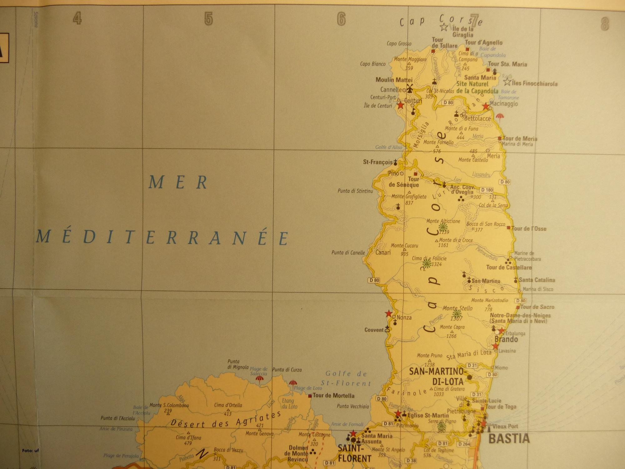 """Die Nordspitze, der """"Finger"""" von Korsika"""