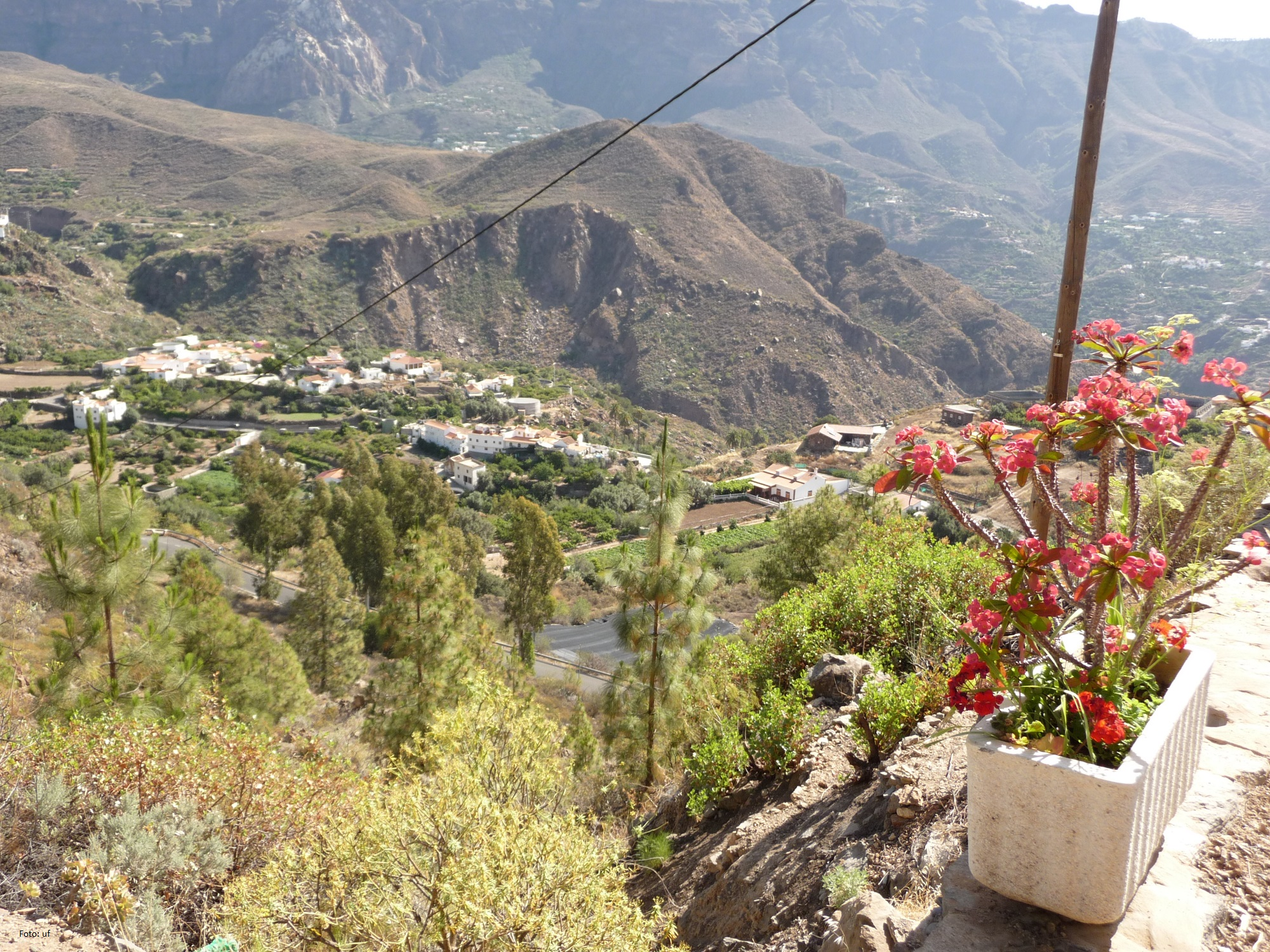 Blick in die Täler von Gran Canaria