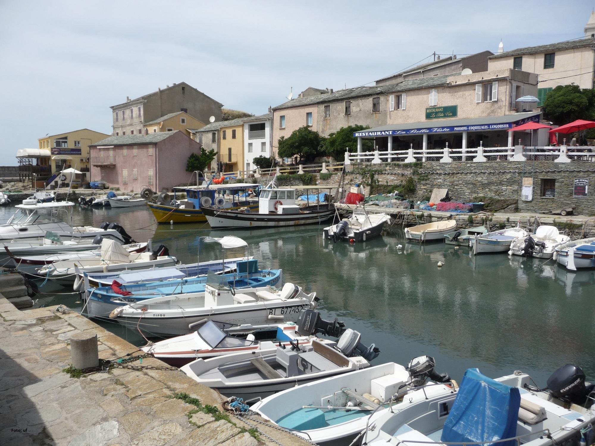 Restaurants um den Fischerhafen Centuri-Port